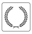 laurel wheat wreath symbol victory achievement vector image vector image