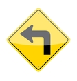 Left Turn Sign vector image