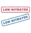 Low Nitrates Rubber Stamps vector image vector image