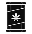 marijuana tin can icon simple style vector image vector image