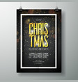 merry christmas party poster design vector image vector image