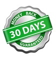 Money back guarantee label vector image vector image