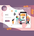 nfc website landing page design template vector image