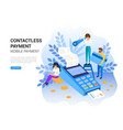 online and mobile contactless payments concept vector image vector image
