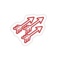 paper sticker Indian arrows on white background vector image vector image