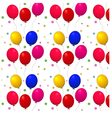 pattern with balloons on a white background vector image vector image