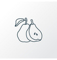 pear icon line symbol premium quality isolated vector image