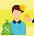 people saving money vector image vector image
