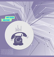 phone icon on purple abstract modern background vector image
