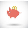 Piggy bank icon vector image vector image