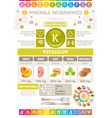pottasium mineral supplement rich food icons vector image vector image