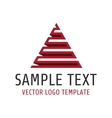Pyramid logo template vector image vector image