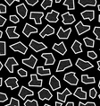 Retro geometry shape background in black and white vector image vector image