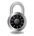 Safe lock vector image vector image