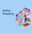 sale consumerism and people concept vector image vector image