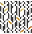 Seamless Gold and Black Chevron Pattern Art Deco vector image