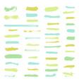 set grunge brush stroke vector image