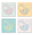 Set of 4 posters with hand drawn lettering vector image vector image