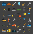 Set of house repair tools icons vector image vector image