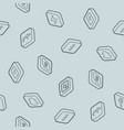 social network outline isometric pattern vector image