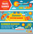 Summer travel - decorative bannrs vector image vector image