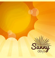 sunny days card vector image vector image