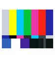 Test card vector image