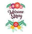 welcome spring card vector image