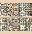 set of seamless pattern vector image