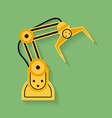 Icon of Industrial manipulator or mechanical robot vector image