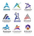 a letter logo design template vector image vector image