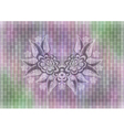 Abstract floral ornament on mosaic background vector image vector image