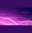 abstract particle wave points array vector image