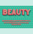 beauty fashion and wedding font vector image vector image