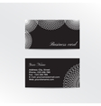 Black business card decorated white lacework vector image vector image