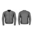 bomber jacket in black vector image vector image