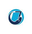 book care logo design template vector image