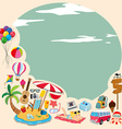 Border design with beach objects vector image vector image