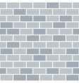 Brick wall seamless pattern grey background vector image