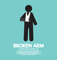 Broken Arm Graphic Symbol vector image vector image