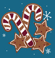 candy canes design vector image vector image