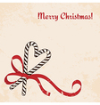 Christmas candies cane with ribbon vector image vector image