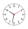 clock face isolated on white background simple vector image