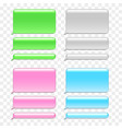 colorful phone chat bubbles isolated set vector image
