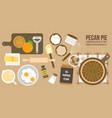 cooking pecan pie poster vector image