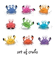 Cute crabs funny characters vector image vector image