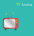 cute retro tv old tv cartoon style vector image