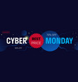 cyber monday big sale flyer advertisement special vector image vector image