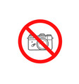 do not use camera sign isolated on white vector image