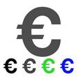 euro symbol icon vector image